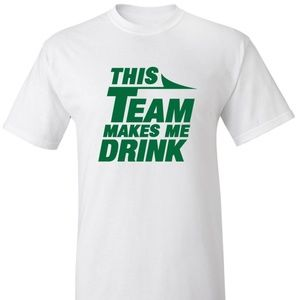 New York Jets This Team Makes Me Drink Shirt